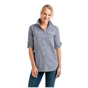 Vineyard Vines • gingham relaxed performance top
